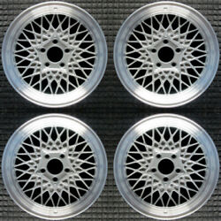 Ford Crown Victoria Machined Lip W/ Silver Spokes 16 Oem Wheel Set 1997 To 20