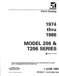 Extremely Clean Orig. Cessna 1974-1986 206 And T206 Series Parts Cataloga Keeper