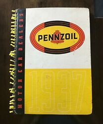 Collectable Pennzoil Motor Car Dealers Book 1937