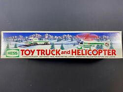 1995 Hess Toy Truck And Helicopter New Gas Oil Station Chopper