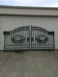 Custom Iron Gate Steel Gate Biparting 14and039 Entrance Gate Driveway Gate Fence