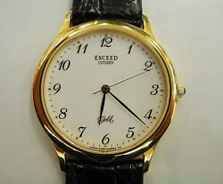 Citizen Watch Exceed Gold 0330-h17796 Quartz Leather Band