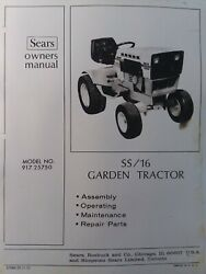 Sears Suburban Ss/16 Lawn Garden Tractor Owner And Parts Manual 917.25750 Onan Hp