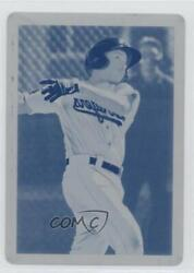 2019 Bowman Heritage Chrome Prospects Printing Plate Cyan 1/1 Jeter Downs