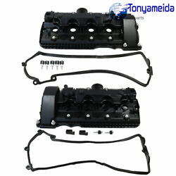 Valve Covers Kit For Bmw E60 E63 E64 E65 Left And Right Cylinders 5-8 And 1-4