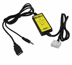 Nc Shipping Usb Aux Adapter Charge Cable For Honda S2000 2004-2009