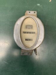 Vintage Unrestored Oval Speedometer Odometer 20and039s 30and039s Rat Rod Model