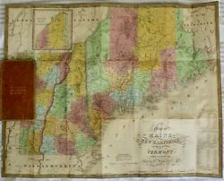 Antique Map Of Maine New Hampshire And Vermont By S. A. Mitchell 1831
