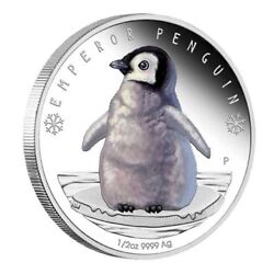 2017 1/2oz Polar Babies Emperor Penguin Silver Proof Coin Numbered 890