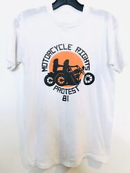 Motorcycle Rights Protest 1981 Vintage T-shirt / Harley Davidson Indian Triumph