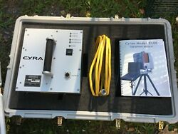 Cyra 2500 Cyrax 3d Laser Survey Scanner System With Cords And Carrying Cases