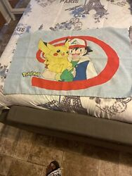 Vintage 1998 Nintendo Pokemon Pillow Case Pikachu Ash