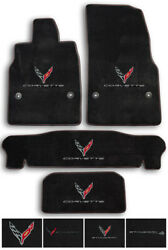 Ebony Lloyd Carpet Floor Mats For Corvette C8 Coupe-choose Color And Logo