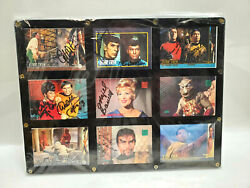 Star Trek Autograph Card Set Of 9 With 13 Signature S7 Deceased Ebau-001