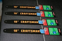 Lot Of 4 Craftsman Chainsaw Tool-less 18 Guide Bar 7136618