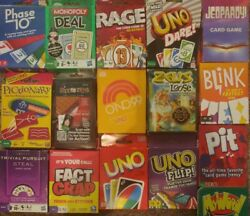 L@@knewuno, Phase 10, And Blink Card, Pit Game Bundle 16 Popular Kids Games