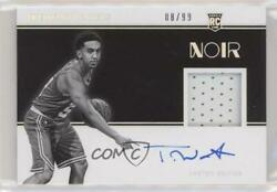 2019 Panini Noir Black And White /99 Tremont Waters 305 Rpa Rookie Patch Auto