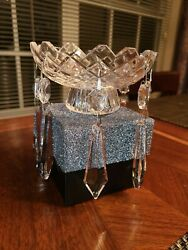 Waterford Signed Crystal Chandelier Adare Replacement 2 Piece Bobeche W/ 8 Prism