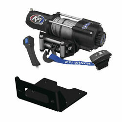 Winch Kit 4500 Lb Wide For Can-am Maverick Sport 1000 2018-2020 Steel Cable