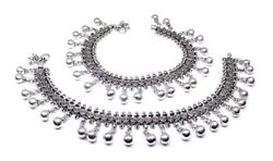 Wedding Antique 925 Sterling Silver Anklets Foot Ankle Chain 11.2