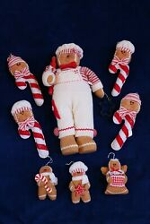 New Gingerbread Cookie Baker Chef Plush Figure Centerpiece And Ornaments