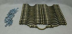 Lot Of 31 Brass Cabinet Drawer Door Pulls Handles 5 Total 3 Hole To Hole