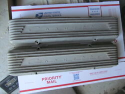 1956 57 Early 9 Fin Aluminum Valve Covers 283 2x4 Fuel Injection