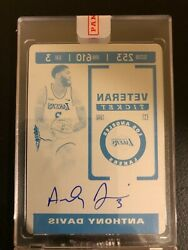 2019 -20 Panini Playoff Contenders Optic Anthony Davis Auto 1/1 On Card Laker 🔥