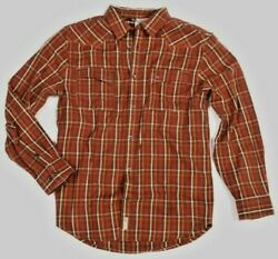 Banded Gear Button Down Flannel Shirt - Brown Plaid - Long Sleeve
