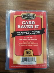50 Pack Card Saver 2 by Cardboard Gold for PSA BGS Submissions CBG $16.48