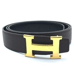 Hermes Constance H Buckle Reversible Belt Leather / Taurillon Clemence