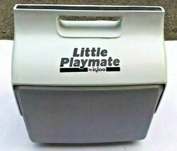 Vintage Little Playmate Igloo Cooler Gray and White Nice $22.99