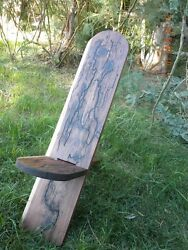 Designer Viking Stargazer Chair. Solid Red Wood, Hand Crafted, Christmas Silver