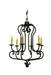 22 Parisi Chandelier Forged Spanish Colonial