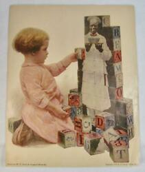 Cream Of Wheat Co 1909 Antique Advertisement Young Girl With Alphabet Blocks O