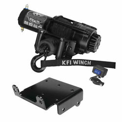 Winch Kit 3500 Lb For Polaris Rzr Rs1 2018-2021 Synthetic Rope
