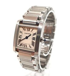 Tank Francaise 2384 Stainless Steel And Grey 20mm Case /16.5cm Strap Watch