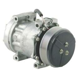 884281803 Genuine Sanden Sd7h15 Compressor, W/ 6 Groove Clutch - New Fits Agco