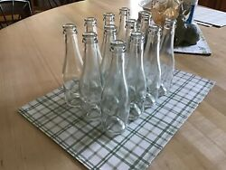 Clear Glass Champagne Bottles 187 Ml Knurling Punt Empty Lot Of 12 Home Brewing