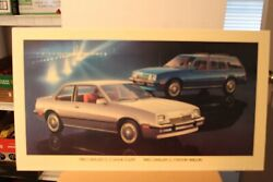 1982 Chevrolet Cavalier Coupe And Wagon Dealership Promotional Wall Poster