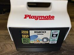 Igloo Playmate Mini Black White Cooler Personal Lunch Ice Chest 6 Pack 4 Qts $13.49