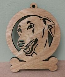 Greyhound - Laser Cut Wood Dog Ornament - Can Be Personalized