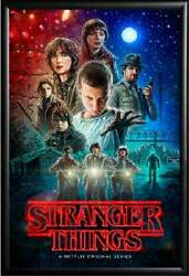 Stranger Things Black Poster No Frame