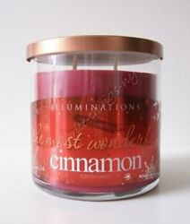 Yankee Candle Illuminations quot; The Most Wonderful Cinnamon quot; Scented Red Candle