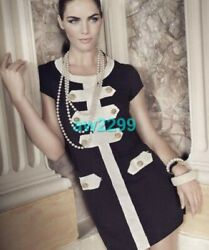 Iconic Fall 05 Most Wanted Dress Black And Cream Cc Logo 46 New