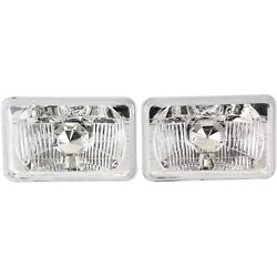 Headlight For 79-86 Ford Mustang Pair Driver And Passenger Side