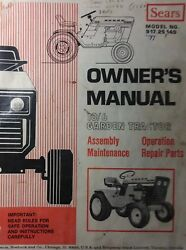 Sears Suburban 10/6 Lawn Garden Tractor Owner And Parts Manual 917.25140 12/6 14/6