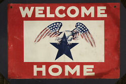 """Vintage Military Welcome Home Banner, """"blue-star Mother, Circa 20th Century"""