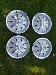 1964 Corvette Original Hub Caps Hubcaps Wheel Covers Gm With New Spinners
