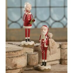 Bethany Lowe - Christmas - Santa And Mrs Claus Set Of 2 - Ml9284